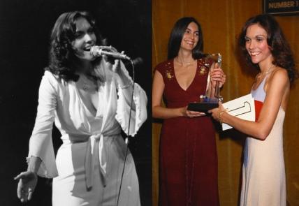 משמאל: קרפנטר בשנות ה-70, בתקופה שלפני המחלה. מימין: קצת לפני המוות